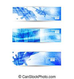 sitio web, conjunto, empresa / negocio, resumen, moderno, encabezamiento, aviador, bandera, o
