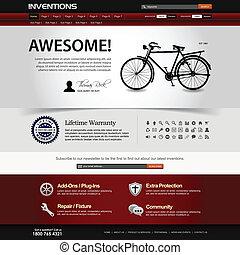 sitio web, diseño telaraña, plantilla, elemento