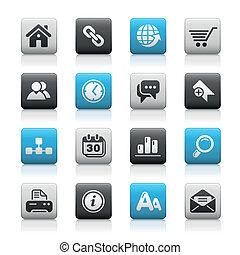 Sitio Web e internet / botones de alfombra
