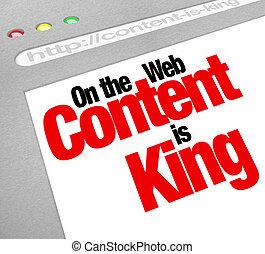 sitio web, rey, artículos, pantalla, contenido, tráfico, fe, aumento, más