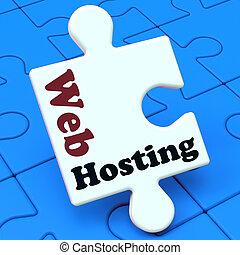 sitio web, tela, dominio, hosting, exposiciones