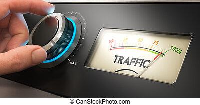 sitio web, tráfico, generar, más