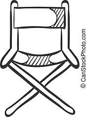Sketch icono - silla de director de cine