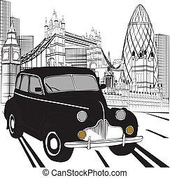 Sketch London Taxi