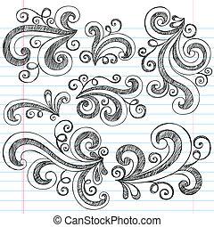 Sketchy doodle arremolina el vector