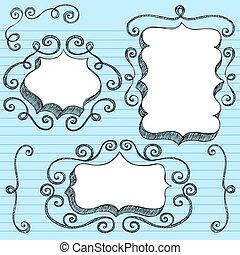 Sketchy doodle ornate vector