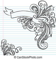 Sketchy doodle pergamino vector