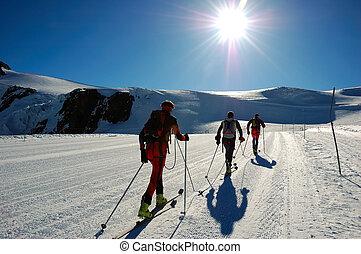 Skiers del condado