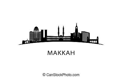 skyline., makkah, ciudad