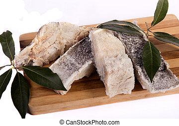 Slices de bacalao salado