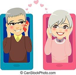 smartphone, amor, 3º edad