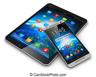 smartphone, computadora, tableta