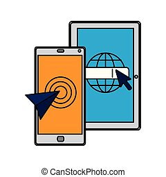 Smartphone con puntero rápido de ratón