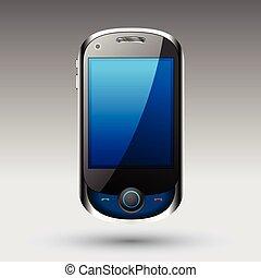 smartphone, vector, editable, archivo