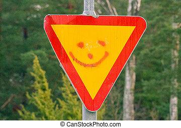 Smiley en una señal