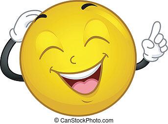 smiley, reír