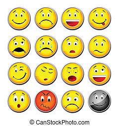 smileys, amarillo