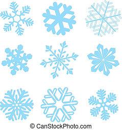 Snowflake invernal establece ilustración vectorial