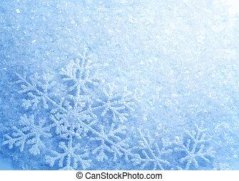 snowflakes., fondo., invierno, nieve, navidad