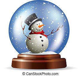 Snowglobe con muñeco de nieve