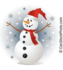 Snowman, ilustración vectorial