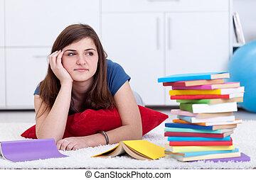 soñar despierto, libros, escuela