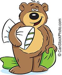 soñoliento, oso