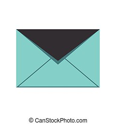 sobre, mensaje, correo