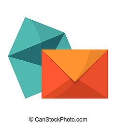 Sobres y símbolo de correo