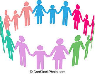 social, diversidad, familia , comunidad, gente