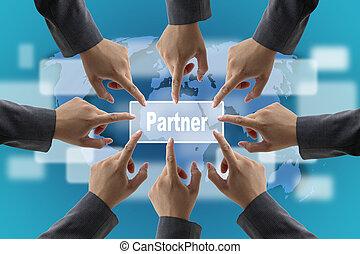 socio, concepto, empresa / negocio