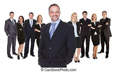 socios, alineación, o, ejecutivos de negocio