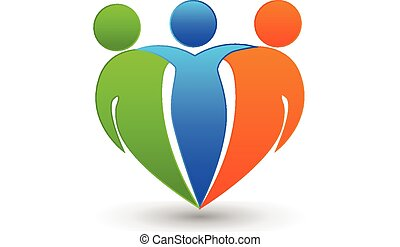 socios, amigos, logotipo