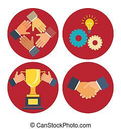 Socios y iconos de cooperación