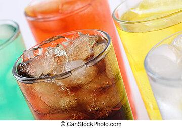 Soda colorida con cola