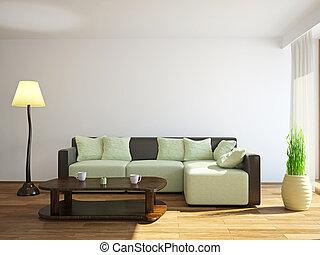 Sofa cerca de la ventana