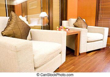Sofas del hotel