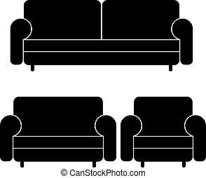 Sofas vectores y sillón