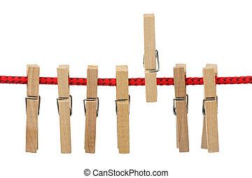 soga, clothespins