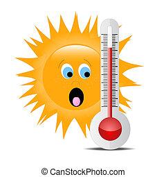 sol 2, termómetro