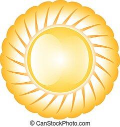Sol amarillo brillante