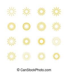 Sol amarillo, diseño de línea
