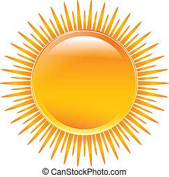 Sol brillante con colores vivos