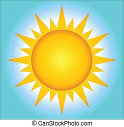 Sol caliente con fondo