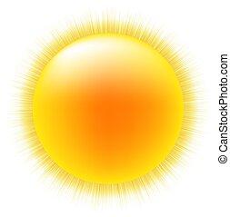Sol con fondo blanco