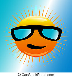 Sol con gafas de sol