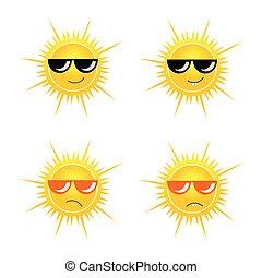 Sol con ilustración de vector de cristal