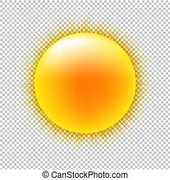 Sol con trasfondo transparente