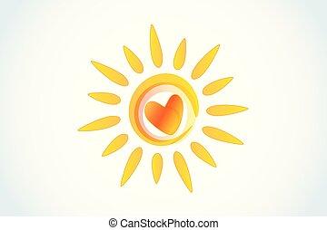 Sol de corazón
