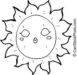 Sol de dibujos animados